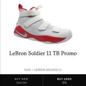 Nike Shoes - Nike LeBron Soldier XI TB promo red/white size10.5